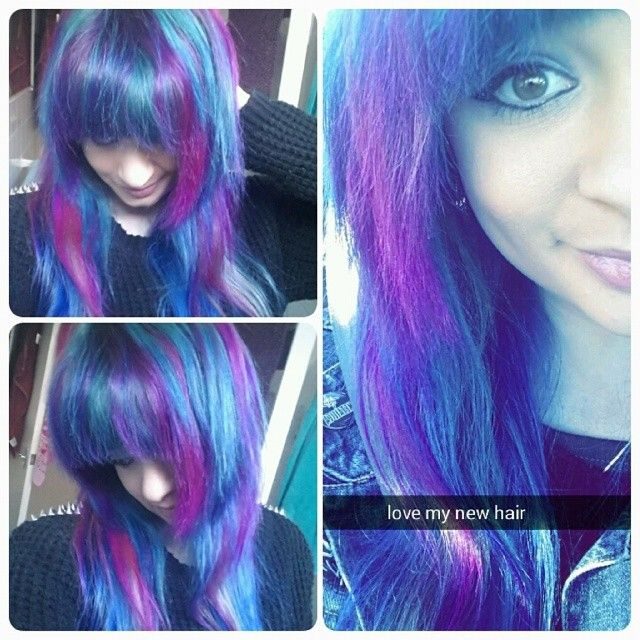 Purple and Blue! <3