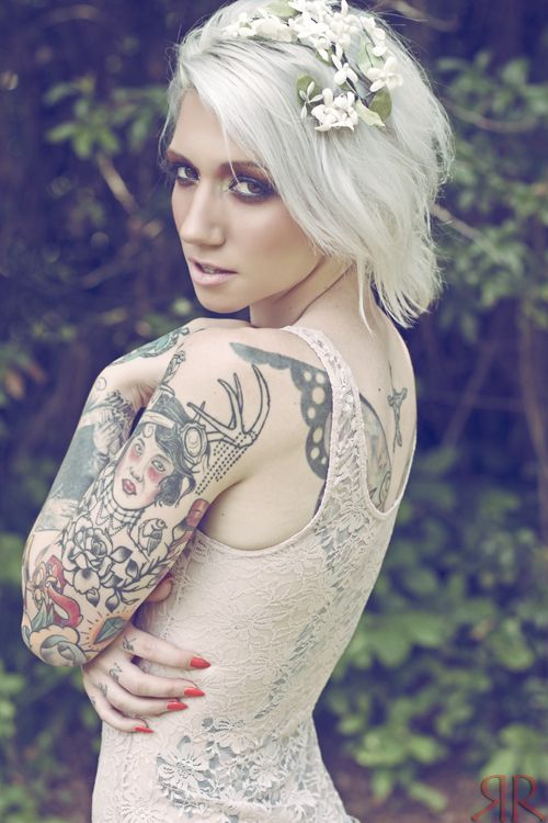 209 best white and gray hair images on pinterest going for Hair tattoo for girl