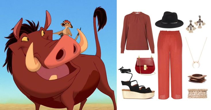 5 outfits inspired by The Lion King | Pumbaa outfit set | [ https://style.disney.com/fashion/2016/06/15/outfits-inspired-by-the-lion-king/ ]
