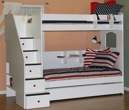 9 best double deck beds for kids images on pinterest 3 4 for Double deck bed images