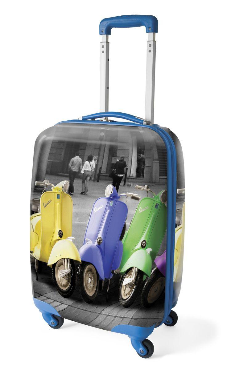 medium vespa travel 4 spinner wheel luggage trolley hard. Black Bedroom Furniture Sets. Home Design Ideas