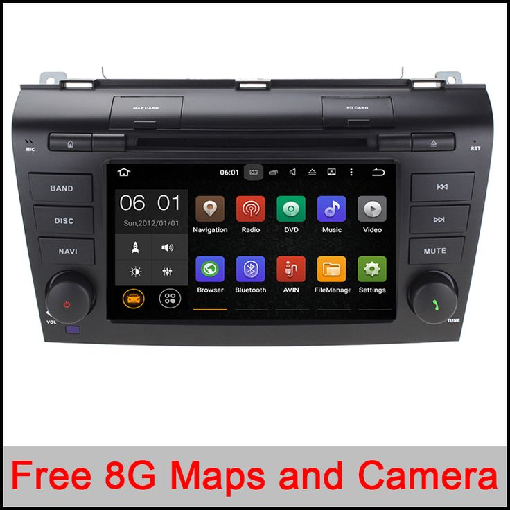 Quad Core Android 5.1.1 Fit Mazda 3 2004 2005 2006 2007 2008 Car DVD Player GPS TV 3G Radio WIFI Bluetooth Steering Wheel