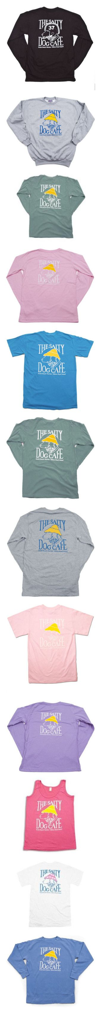 """The Salty Dog Cafe Apparel"" by sperry-topsider ❤ liked on Polyvore featuring long sleeve shirts, sweaters, sweatshirts, shirts, tops, t-shirts, tops/outerwear, tees, basic tees and tank tops"
