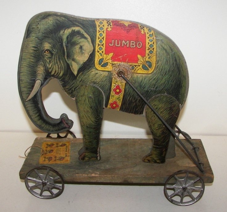 Gibbs Jumbo the Elephant pull toy GREAT toy in nice condition Pat. 1911