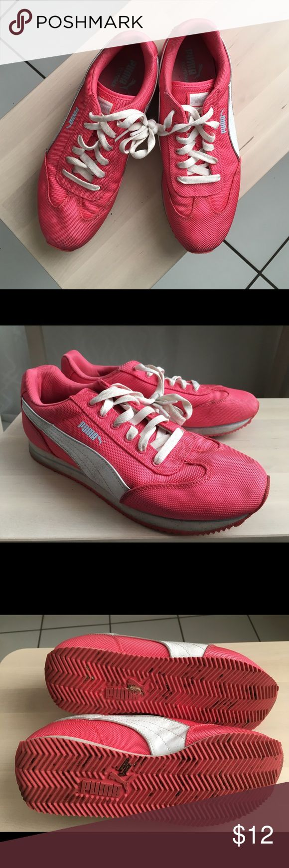 Women's size 9 hot pink Puma sneakers Size 9 Puma Eco Ortholite. Good used condition. Puma Shoes Athletic Shoes