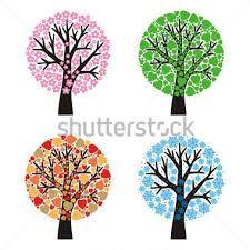 Výsledek obrázku pro strom roční období kresba