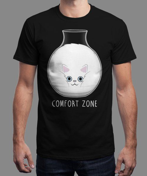 """""""Comfort Zone!"""" is today's £9/€11/$12 tee for 24 hours only on www.Qwertee.com Pin this for a chance to win a FREE TEE this weekend. Follow us on pinterest.com/qwertee for a second! Thanks:)"""