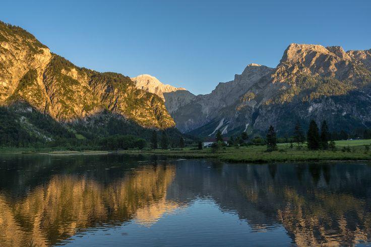 last mountain light - Almsee, Austria