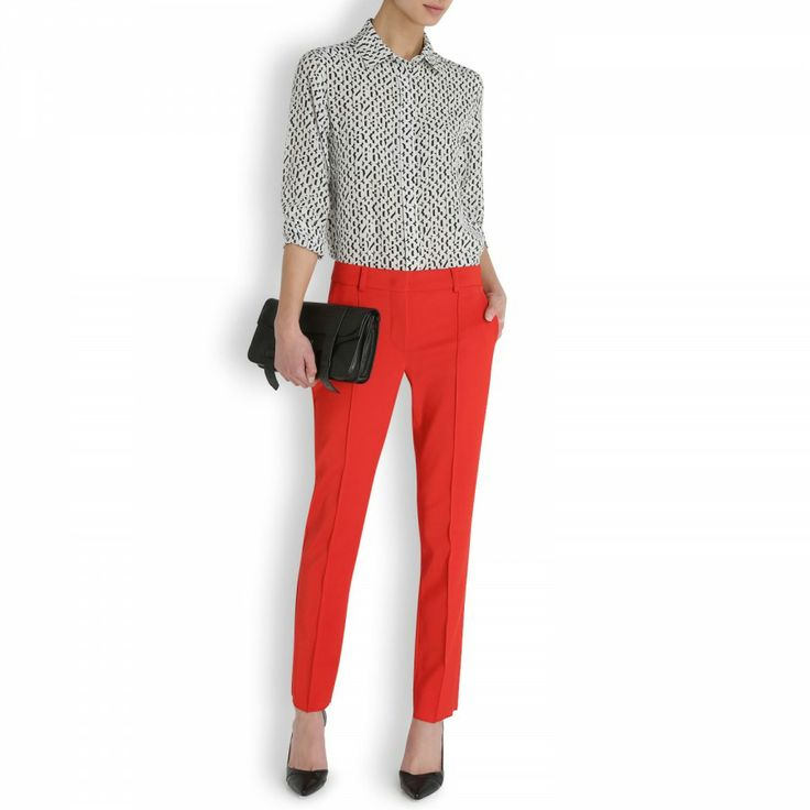 Erica cropped stretch crepe trousers, MaxMara & Sportmax, Harvey Nichols Store View