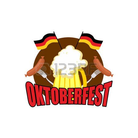 logotipo de la Oktoberfest. Fiesta de la Cerveza en Alemania. ilustración vectorial