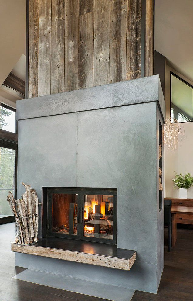 352 Best Images About See Thru Fireplaces On Pinterest