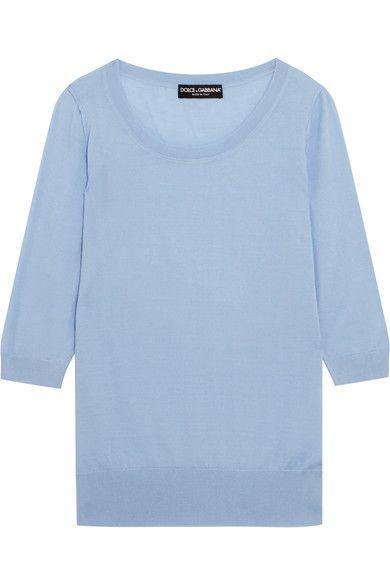 Dolce & Gabbana - Cashmere Sweater - Sky blue - IT38