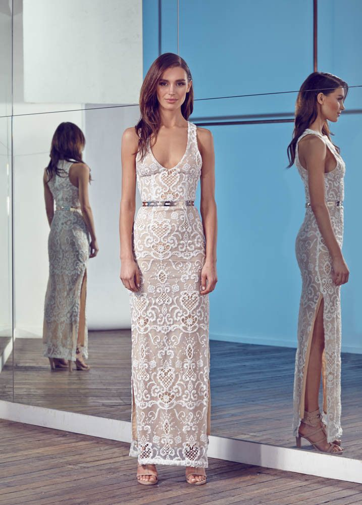 HER DAY LACE MAXI DRESS