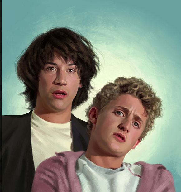 These two definitely had some #420 moments . . . . #billandted #stoners #weed #420 #ganja #smoking #herbs #buds #trees #classic #movies #keanu #celrbities #portraits