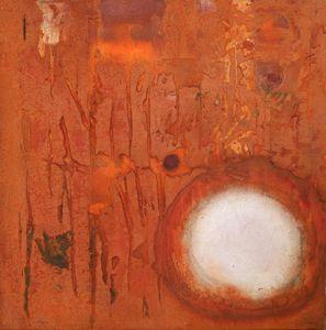 rugin (2009) 80x80cm mixed media on canvas daniel soukup