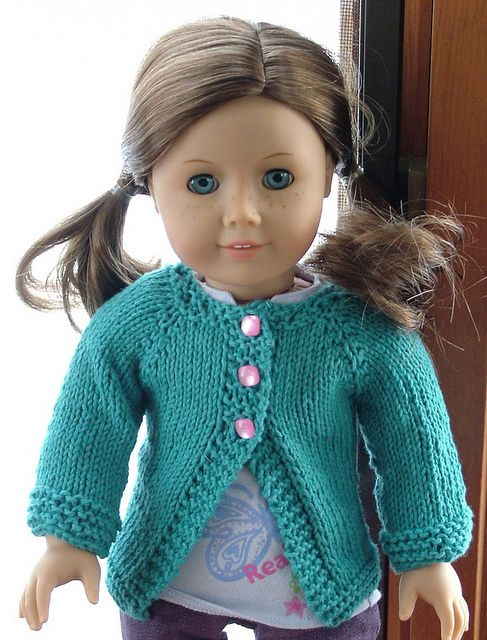 Free Poppy Cardigan American Girl Dolls Patterns To Knit