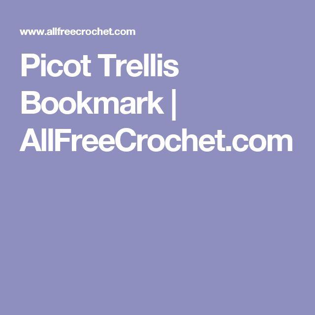 Picot Trellis Bookmark | AllFreeCrochet.com