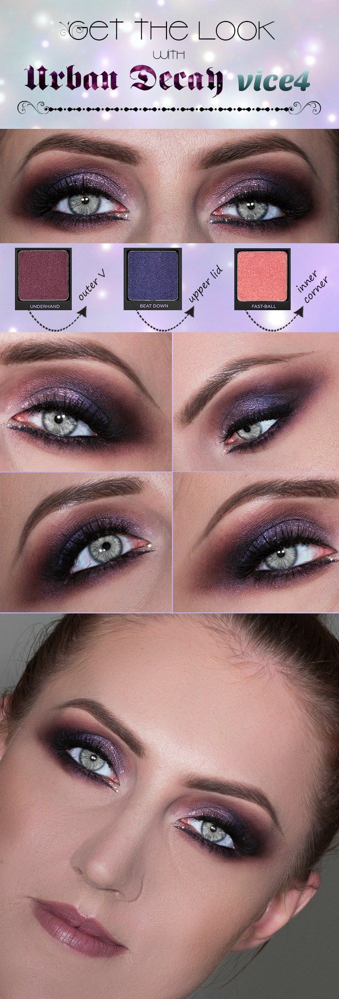 Still in doubt what you're gonna wear as your New Year makeup tonight? I have a very festive and sexy purple makeup look with subtle glitter…