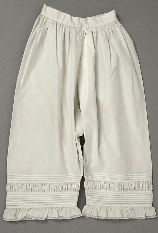 Underpants (Drawers)  Date: 1863 Culture: American or European