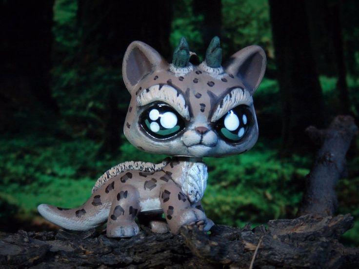 Littlest Pet Shop Dragon Forest Guardian Spirit OOAK custom figure LPS Leopard #Hasbro