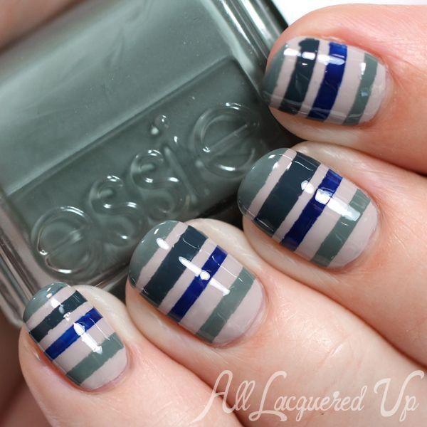 Essie Fall 2014 Striped Nail Art for #ManiMonday