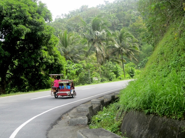 Photo taking from our tricykle on the way to a waterfall, Philippines. Photo: Stine Kylsø Pedersen