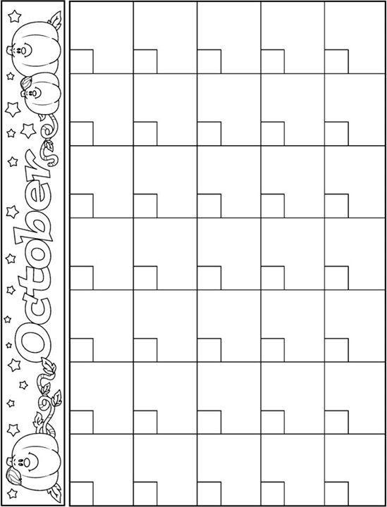 12 best calendar templates images on Pinterest Bullet journal - preschool calendar template