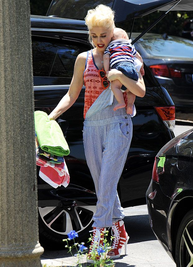 Gwen Stefani celebrating Fourth of July and her father's birthday with her family in Los Angeles on July 4, 2014