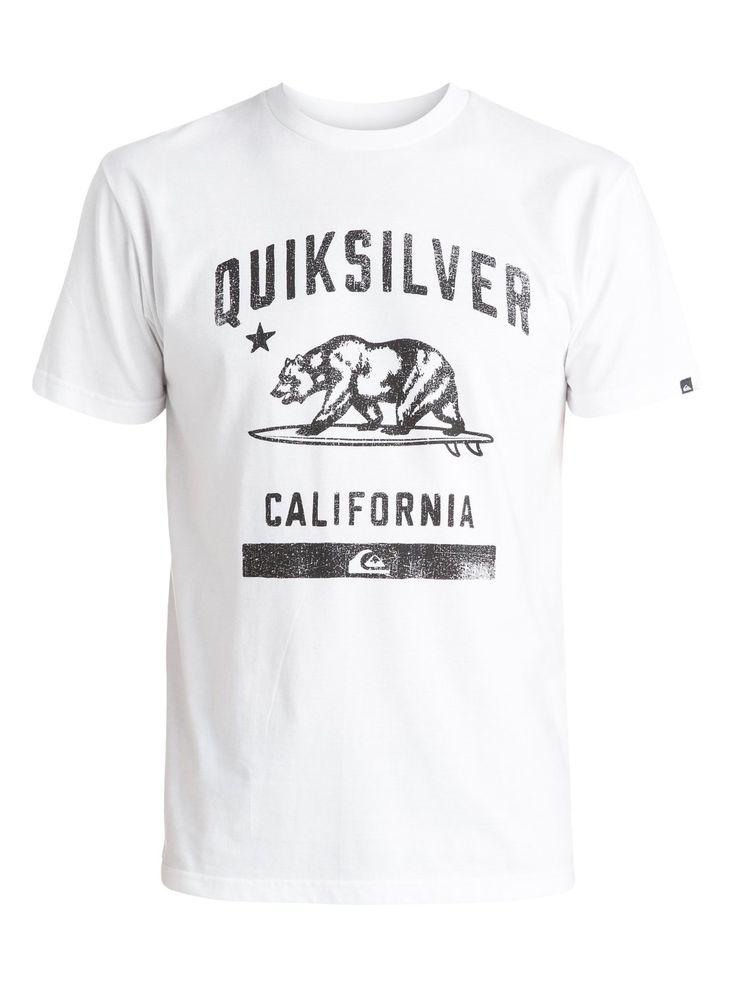 quiksilver, CA Bear T-Shirt, WHITE (wbb0)
