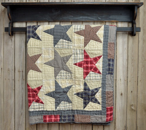 Primitive Country America Throw Stars Victorian Heart