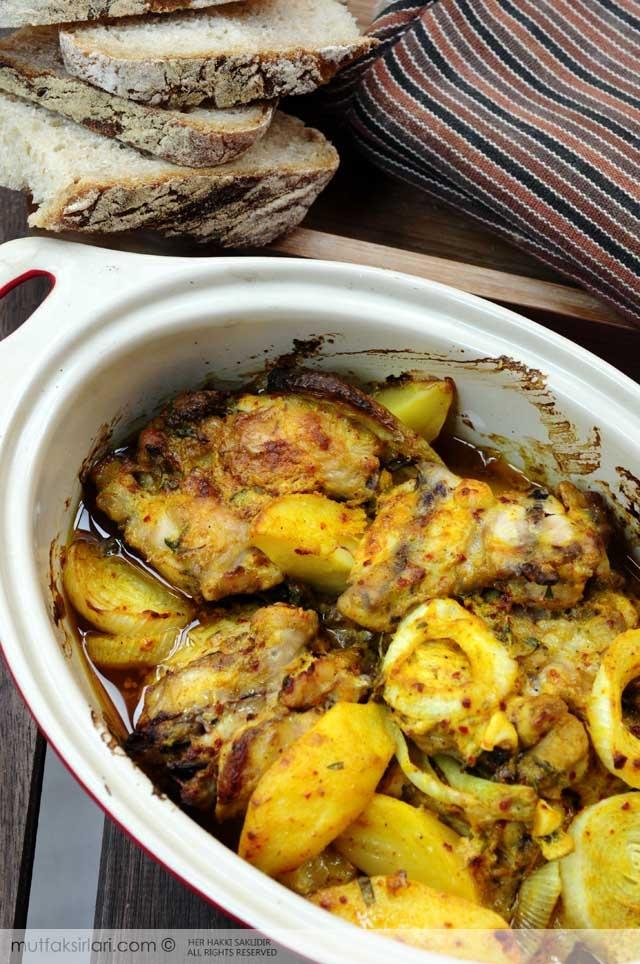 Fırında Körili Tavuk Patates