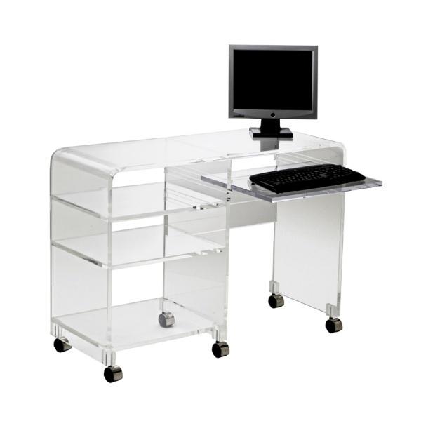 Lucite computer desk $1380.00 from Plexi-Craft.