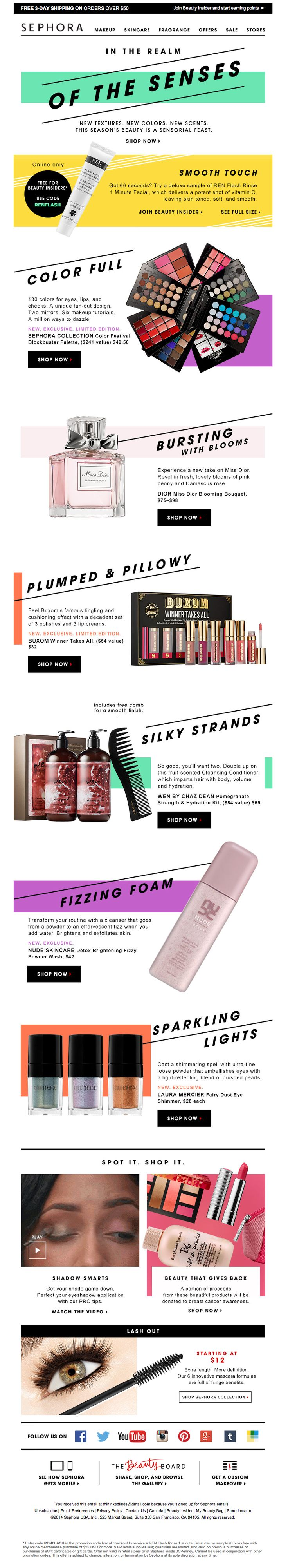 Sephora e-newsletter