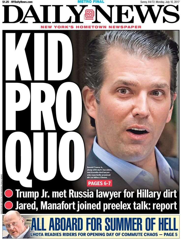 Image result for Donald Trump JR--Culture of Dishonesty