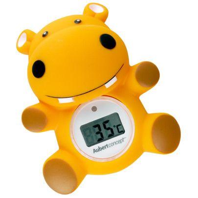Thermomètre de bain Hippo Orange de Aubert concept