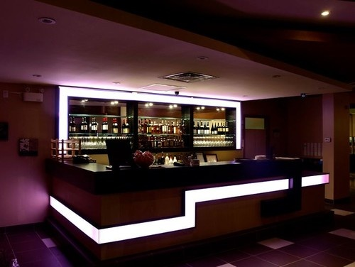 Interesting Niches Behind The Bar Modern Bar Basement Design Ideas,  Pictures, Remodel And Decor