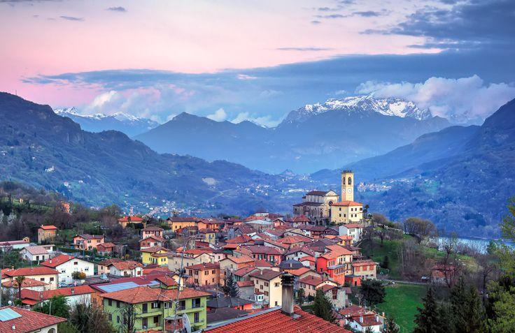 View of Parrocchia dei SS. Martino e Materno Corrido. Como Italy