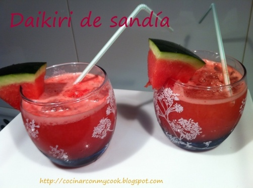 Daikiri de sandía para #Mycook http://www.mycook.es/receta/daikiri-de-sandia-2/