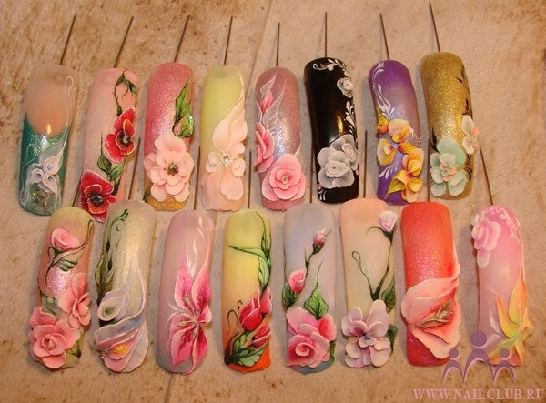 Spotted on Nailclub.ru  #flower #3d #nailart #tutorial #nails - pinned by www.naildesignshop.nl