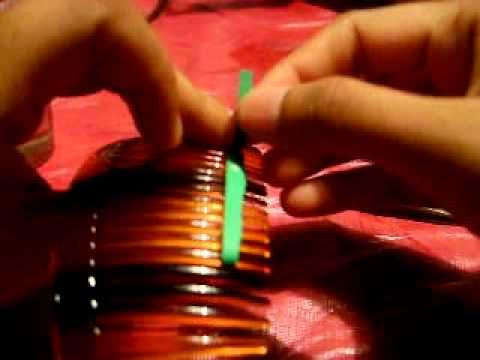 Quilling leaves using combing