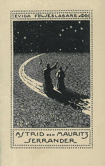 [Ex libris Astrid och Mauritz Serrander] by Stifts- och landsbiblioteket i Skara, via Flickr