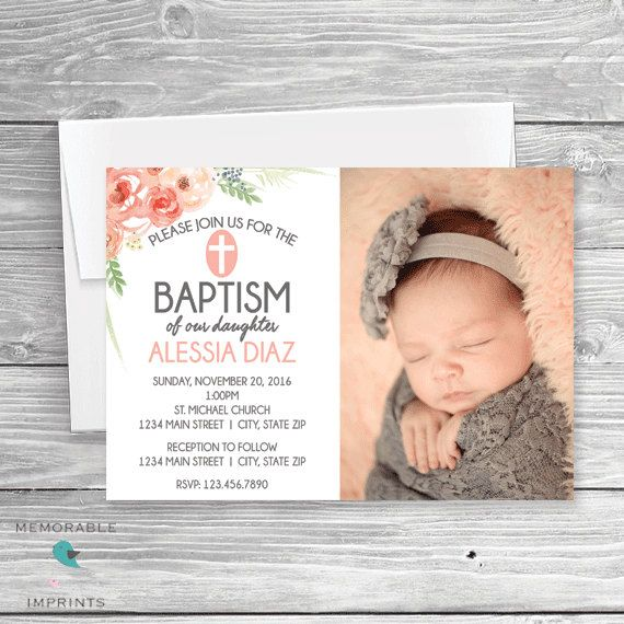 19 best baptism invitations images on pinterest baptism baptism invitation with picture baptism invitation for girl girl baptism invitations baptism invitations printable invitations stopboris Gallery