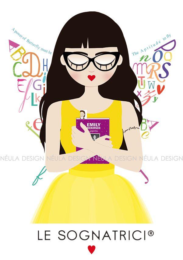 Le Sognatrici - Mémily - books - Emily Dickinson - Butterfly - Fairy - Tattoo - Glasses - Reading - Bookmark - Dream -  www.lesognatrici.com