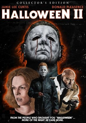 "Halloween II (1981) movie dvd cover (US) - ""From the people who brought you ""Halloween""... More of the night He came home."""