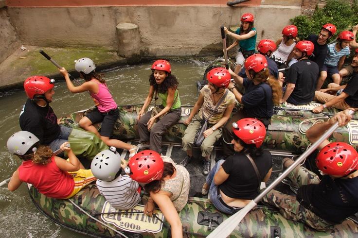 piccoli e non, si divertono allo Urban Rafting