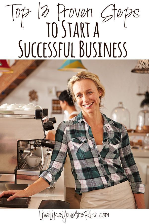 How to Start Your Own Business - list of 13 things to do and consider when opening a small business.