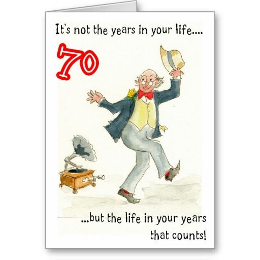 Life In Your Years 70th Birthday Card For A Man
