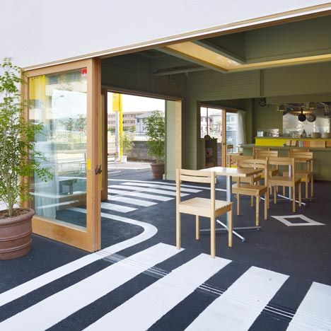 Ultimate Uchi Soto The Asphalt Surface Of A Car Park Extends Inside This Cafe In Shizuoka Japan By Japanese Architects Suppose Design Office