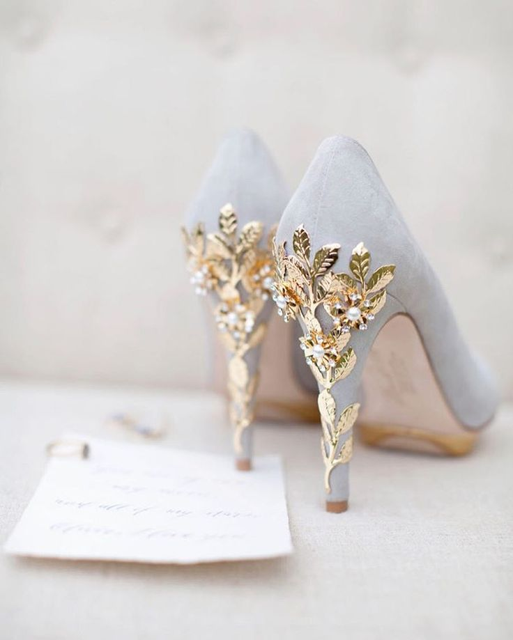 How Beautiful Is The Detailing On Heels Of These Bridal Shoes They Are