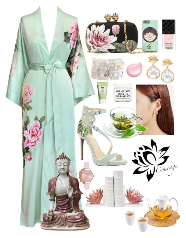 """""""Japanese Tea Garden Date"""" by infin8 ❤ liked on Polyvore featuring Alexander McQueen, Jessica Simpson, Jamie Wolf, Gucci, Blooming Lotus Jewelry, Clarins, Youth To The People, Zens Lifestyle, Origins and Olivia Burton"""